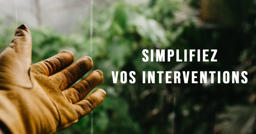 Image simplifier ses interventions