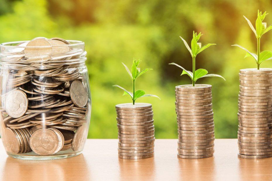 visuel pièces de monnaie et économie